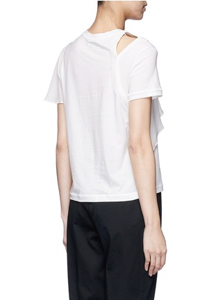 Back View - Click To Enlarge - 3.1 Phillip Lim - Ruffle overlay cutout T-shirt