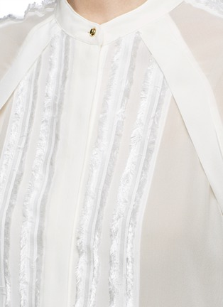 Detail View - Click To Enlarge - 3.1 Phillip Lim - Fil coupé stripe chiffon blouse