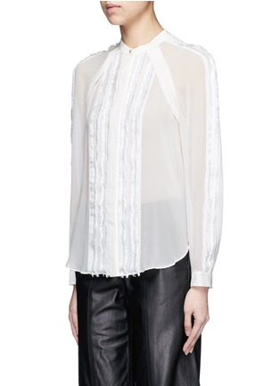 Front View - Click To Enlarge - 3.1 Phillip Lim - Fil coupé stripe chiffon blouse