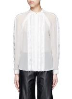 Fil coupé stripe chiffon blouse