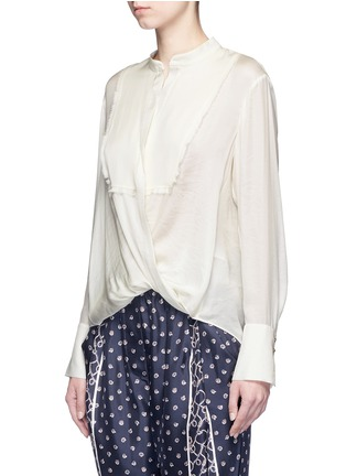 Front View - Click To Enlarge - 3.1 Phillip Lim - Fringed drape front top
