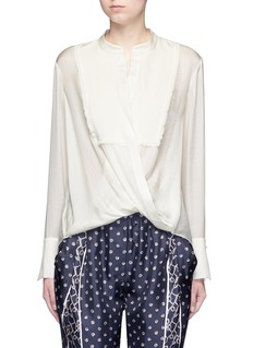 3.1 Phillip Lim Fringed drape front top
