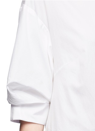 Detail View - Click To Enlarge - 3.1 Phillip Lim - Ruched sleeve cotton poplin shirt