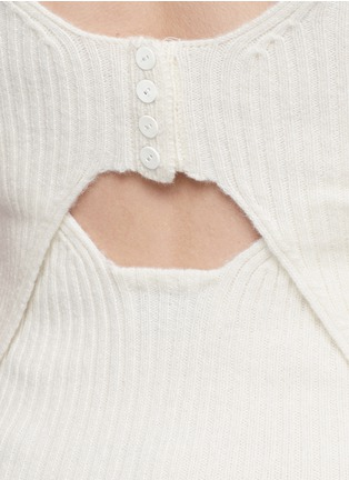 Detail View - Click To Enlarge - 3.1 Phillip Lim - Collegiate stripe cable knit sweater tee