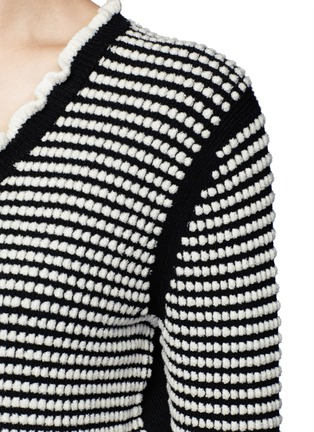 Detail View - Click To Enlarge - 3.1 Phillip Lim - Polka dot bouclé ruffle cardigan