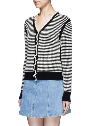 Front View - Click To Enlarge - 3.1 Phillip Lim - Polka dot bouclé ruffle cardigan