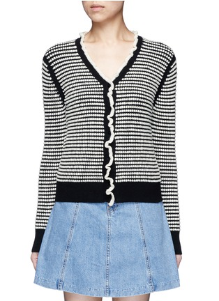 Main View - Click To Enlarge - 3.1 Phillip Lim - Polka dot bouclé ruffle cardigan