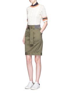 3.1 Phillip LimTwill belted utility skirt