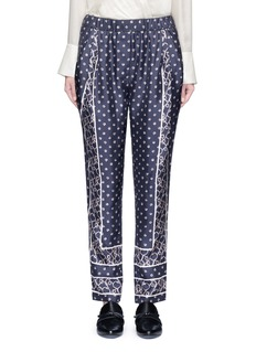 3.1 Phillip Lim Friendship knot scarf print drape pants