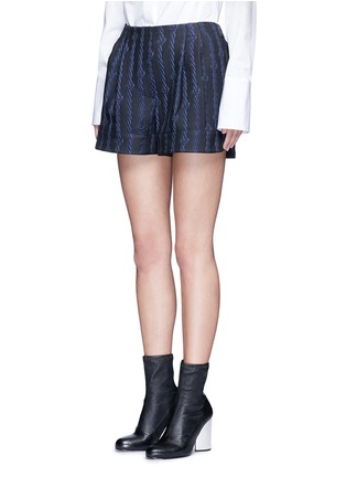 Front View - Click To Enlarge - 3.1 Phillip Lim - Silk rope embroidery piqué shorts