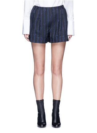 Main View - Click To Enlarge - 3.1 Phillip Lim - Silk rope embroidery piqué shorts