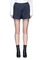 Silk rope embroidery piqué shorts