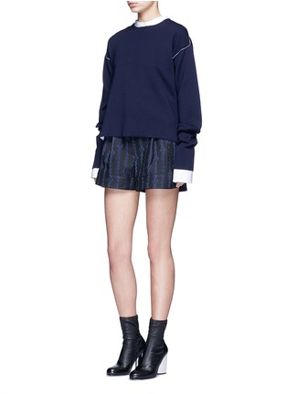 Figure View - Click To Enlarge - 3.1 Phillip Lim - Silk rope embroidery piqué shorts