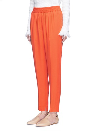 正面 -点击放大 - 3.1 PHILLIP LIM - 单色绉绸长裤