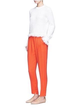 模特儿示范图 - 点击放大 - 3.1 PHILLIP LIM - 单色绉绸长裤