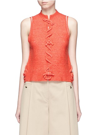 Main View - Click To Enlarge - 3.1 Phillip Lim - Knot front sleeveless knit top