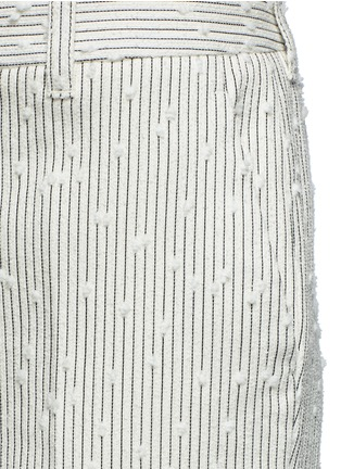 Detail View - Click To Enlarge - 3.1 Phillip Lim - Stripe bouclé kick flare pants