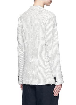 Back View - Click To Enlarge - 3.1 Phillip Lim - Stripe bouclé soft blazer