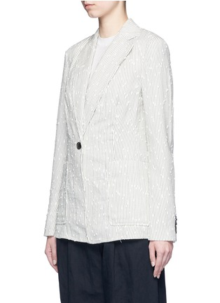 Front View - Click To Enlarge - 3.1 Phillip Lim - Stripe bouclé soft blazer