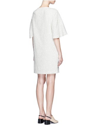 Back View - Click To Enlarge - 3.1 Phillip Lim - Flared sleeve stripe bouclé dress