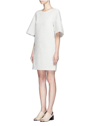 Front View - Click To Enlarge - 3.1 Phillip Lim - Flared sleeve stripe bouclé dress