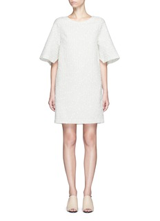 3.1 Phillip LimFlare sleeve stripe bouclé dress