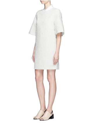 Figure View - Click To Enlarge - 3.1 Phillip Lim - Flared sleeve stripe bouclé dress