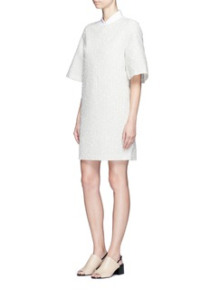 3.1 Phillip Lim Flare sleeve stripe bouclé dress
