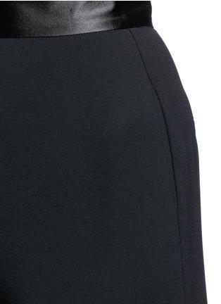 Nicholas-Satin waistband crepe cropped flared pants