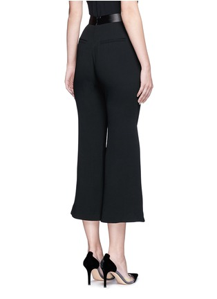 Back View - Click To Enlarge - Nicholas - Satin waistband crepe cropped flared pants