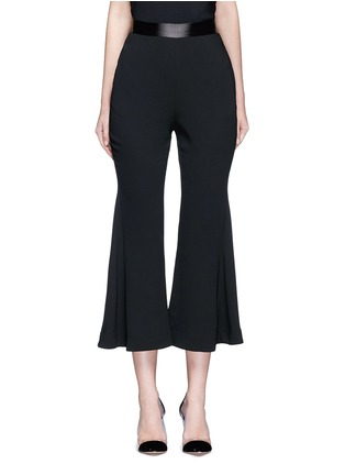 Main View - Click To Enlarge - Nicholas - Satin waistband crepe cropped flared pants