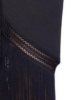 Macramé fringe crepe skirt