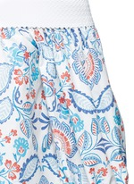 Off-shoulder floral paisley print top