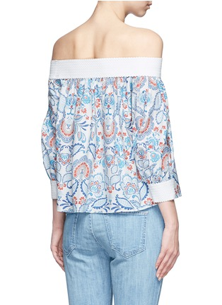 Back View - Click To Enlarge - Nicholas - Off-shoulder floral paisley print top