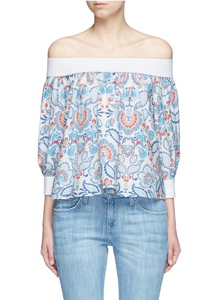 Main View - Click To Enlarge - Nicholas - Off-shoulder floral paisley print top
