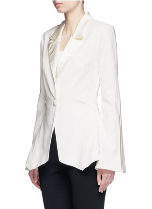 Front View - Click To Enlarge - Nicholas - Satin lapel crepe blazer