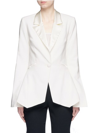 Main View - Click To Enlarge - Nicholas - Satin lapel crepe blazer