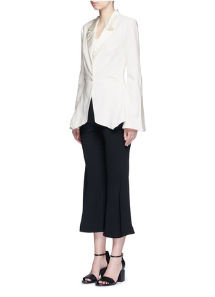 Figure View - Click To Enlarge - Nicholas - Satin lapel crepe blazer