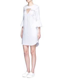 NICHOLAS'Lola' mesh insert cutout dress