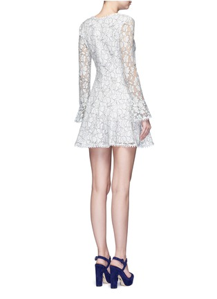 Back View - Click To Enlarge - Nicholas - Floral lace flare dress