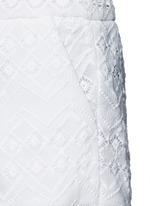 Zigzag edge geometric lace cotton shorts