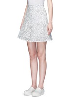 Floral lace flare skirt