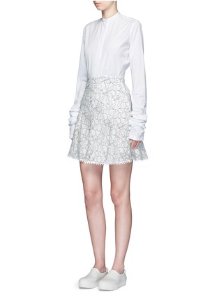 Figure View - Click To Enlarge - Nicholas - Floral lace flare skirt