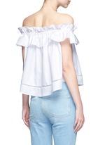 'Sofia' ruffle poplin off-shoulder top