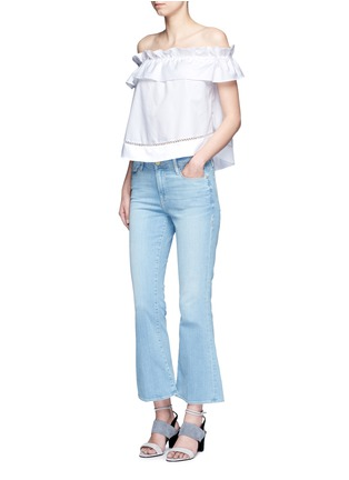 Figure View - Click To Enlarge - Nicholas - 'Sofia' ruffle poplin off-shoulder top