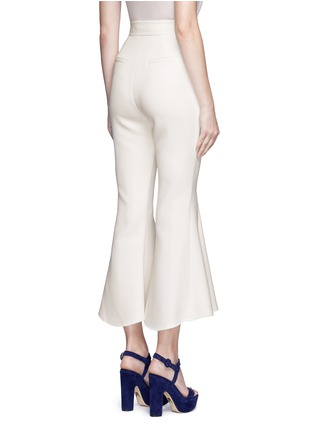 Back View - Click To Enlarge - Nicholas - Crepe godet flare pants
