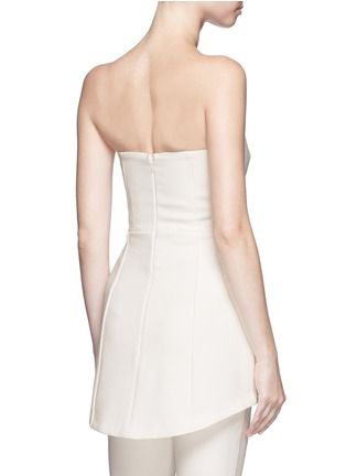Back View - Click To Enlarge - Nicholas - Crepe strapless flare top