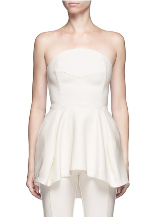 Main View - Click To Enlarge - Nicholas - Crepe strapless flare top