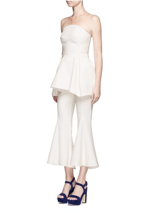 Figure View - Click To Enlarge - Nicholas - Crepe strapless flare top