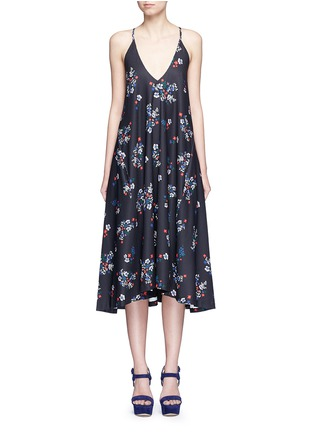 Main View - Click To Enlarge - Nicholas - 'Posie' floral print strappy midi dress